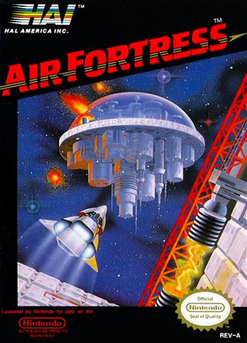 Air Fortress Nintendo NES cover artwork