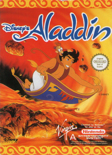 Aladdin Nintendo NES cover artwork