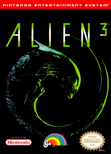 Alien 3 Nintendo NES cover artwork
