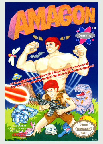 Amagon Nintendo NES cover artwork