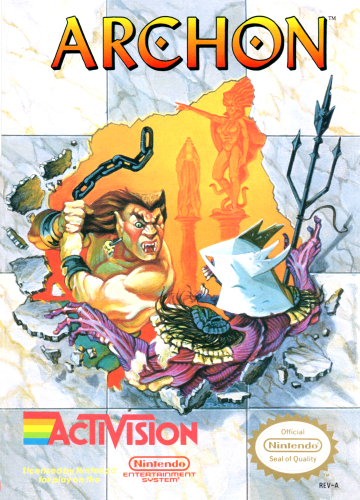 Archon Nintendo NES cover artwork