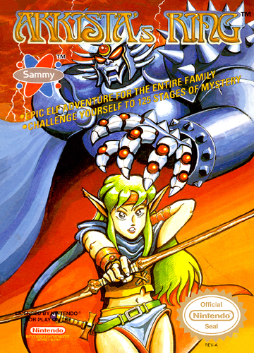 Arkista's Ring Nintendo NES cover artwork