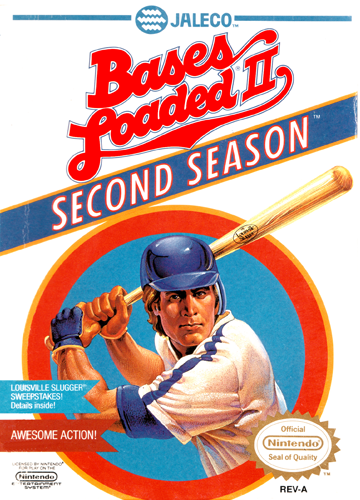 Bases Loaded II - Second Season Nintendo NES cover artwork