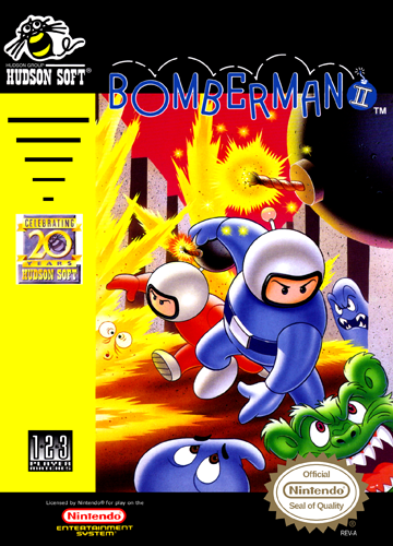 Bomberman II Nintendo NES cover artwork