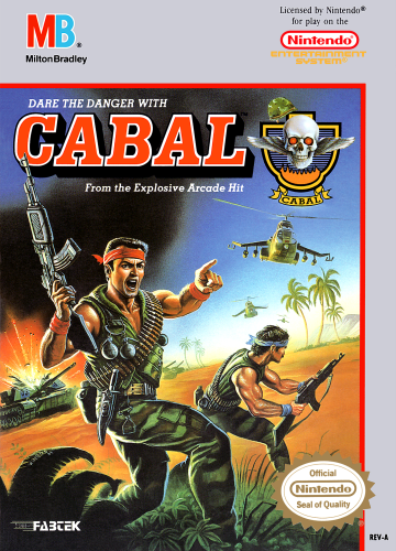 Cabal Nintendo NES cover artwork