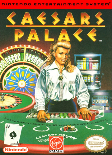 Caesars Palace Nintendo NES cover artwork