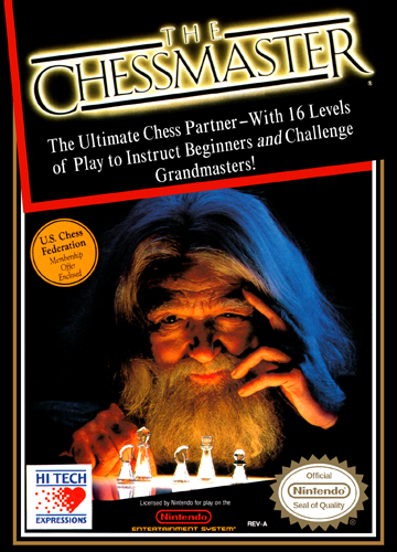 Chessmaster, The Nintendo NES cover artwork