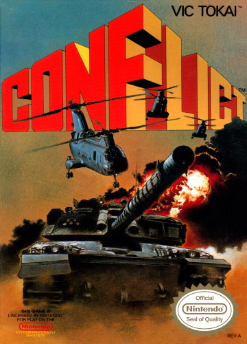 Conflict Nintendo NES cover artwork