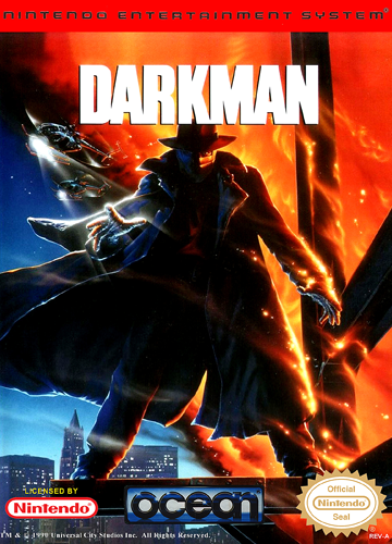 Darkman Nintendo NES cover artwork