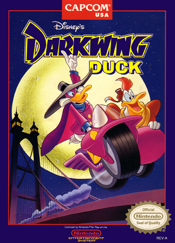 Darkwing Duck Nintendo NES cover artwork