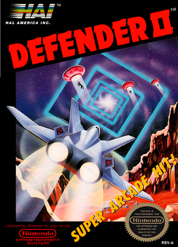 Defender II Nintendo NES cover artwork