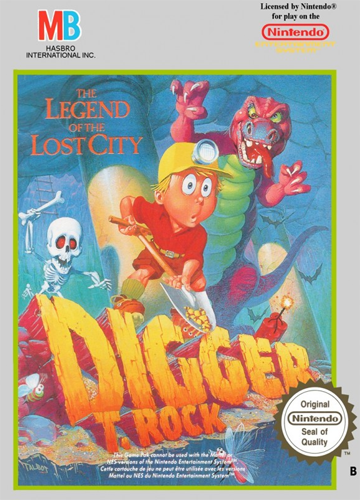 Digger - The Legend of the Lost City Nintendo NES cover artwork