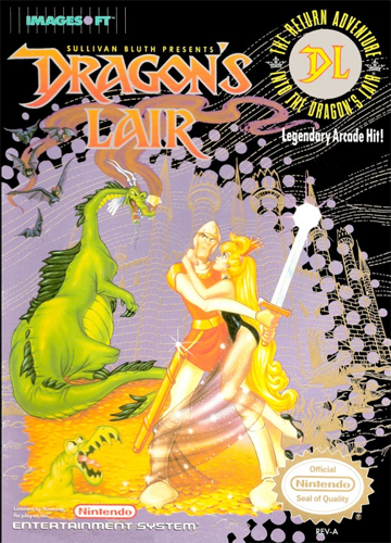 Dragon's Lair Nintendo NES cover artwork