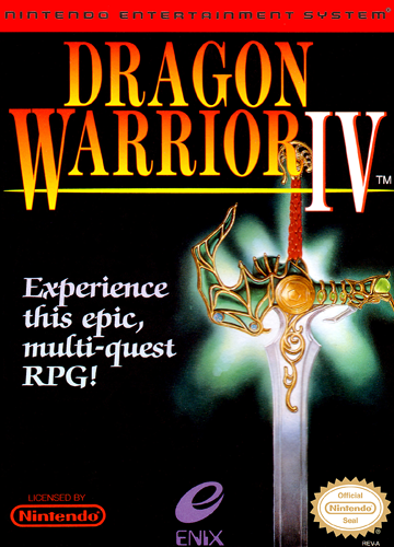 Dragon Warrior IV Nintendo NES cover artwork