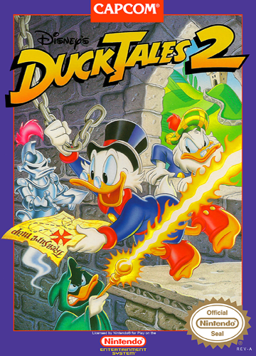 DuckTales 2 Nintendo NES cover artwork