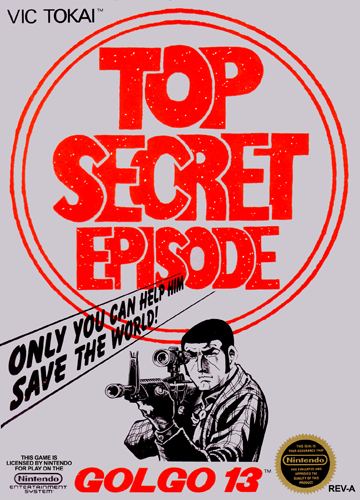 Golgo 13 - Top Secret Episode Nintendo NES cover artwork