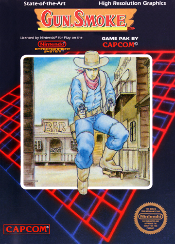 Gun.Smoke Nintendo NES cover artwork