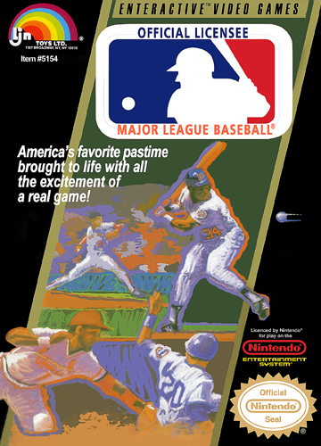 Major League Baseball Nintendo NES cover artwork