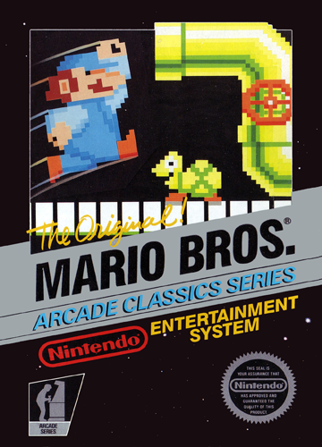 Mario Bros. Nintendo NES cover artwork