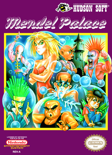Mendel Palace Nintendo NES cover artwork