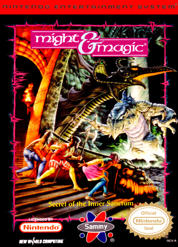 Might & Magic - Secret of the Inner Sanctum Nintendo NES cover artwork