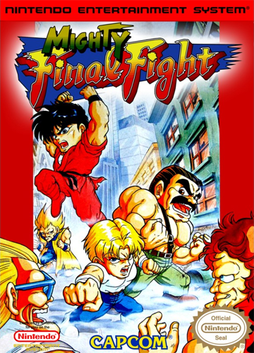 Mighty Final Fight Nintendo NES cover artwork