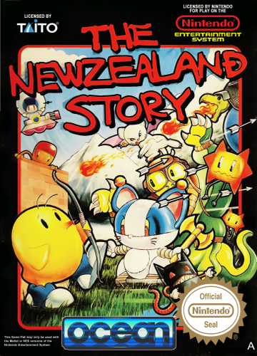 New Zealand Story, The Nintendo NES cover artwork