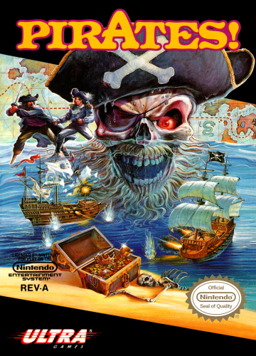 Pirates! Nintendo NES cover artwork