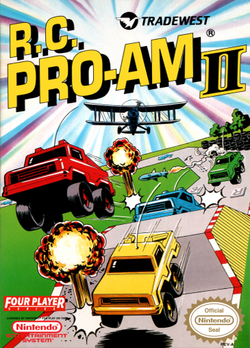 R.C. Pro-Am II Nintendo NES cover artwork