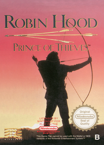Robin Hood - Prince of Thieves Nintendo NES cover artwork