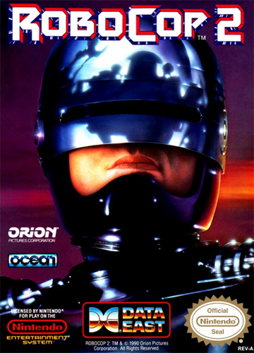 RoboCop 2 Nintendo NES cover artwork