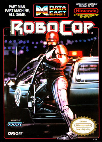 RoboCop Nintendo NES cover artwork
