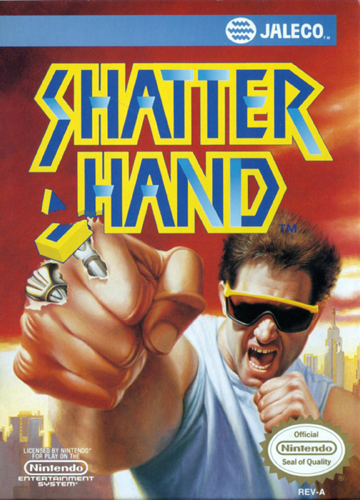 Shatterhand Nintendo NES cover artwork