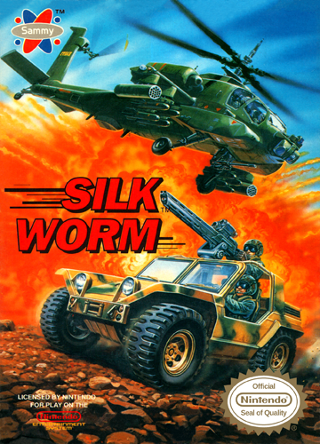 Silk Worm Nintendo NES cover artwork