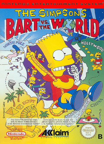 Simpsons, The - Bart vs. the World Nintendo NES cover artwork