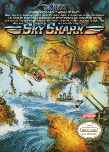Sky Shark Nintendo NES cover artwork