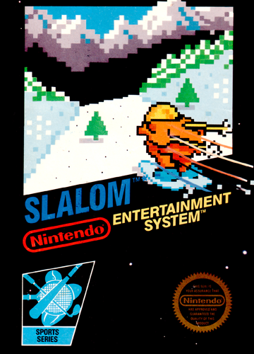 Slalom Nintendo NES cover artwork