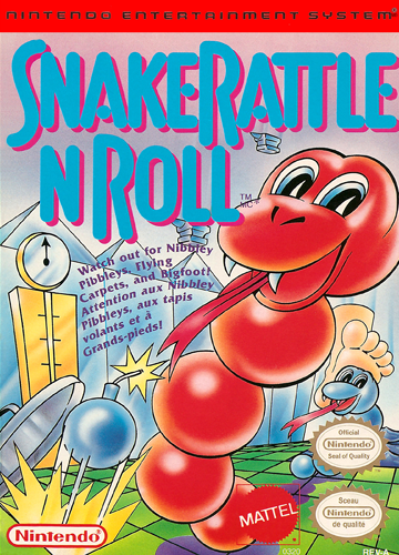 Snake Rattle n Roll Nintendo NES cover artwork