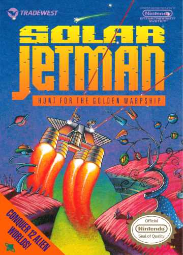 Solar Jetman - Hunt for the Golden Warpship Nintendo NES cover artwork