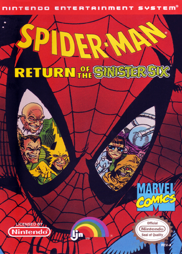 Spider-Man - Return of the Sinister Six Nintendo NES cover artwork