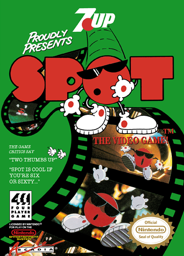 Spot - The Video Game Nintendo NES cover artwork