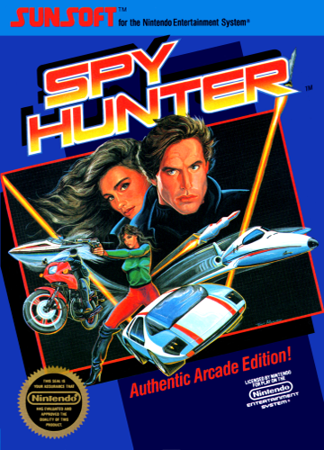 Spy Hunter Nintendo NES cover artwork