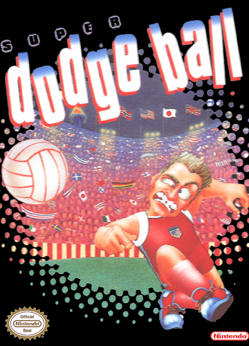 Super Dodge Ball Nintendo NES cover artwork