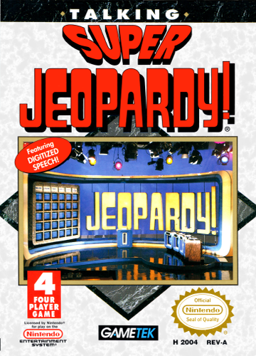 Super Jeopardy! Nintendo NES cover artwork