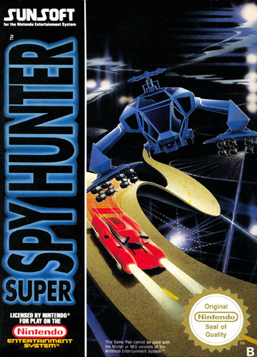 Super Spy Hunter Nintendo NES cover artwork