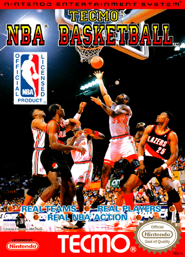 Tecmo NBA Basketball Nintendo NES cover artwork