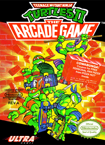 Teenage Mutant Ninja Turtles II - The Arcade Game Nintendo NES cover artwork
