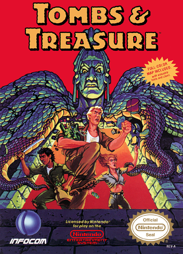 Tombs & Treasure Nintendo NES cover artwork