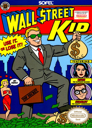 Wall Street Kid Nintendo NES cover artwork