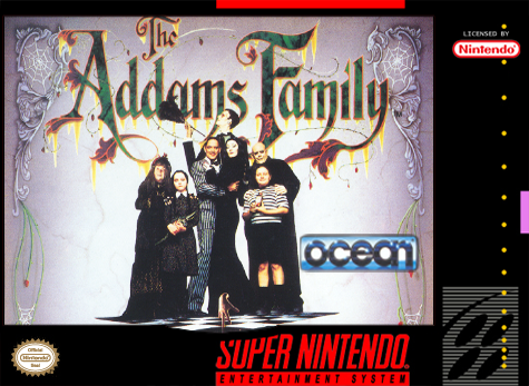 Addams Family, The Nintendo Super NES cover artwork